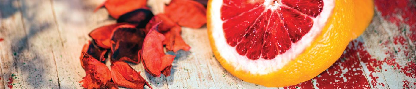 italian blood orange little candle, body lotion & sea salt scrub