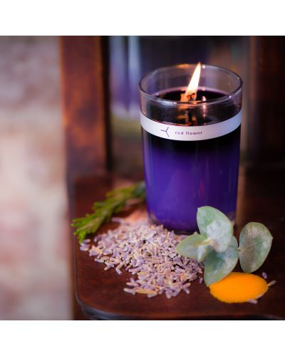 french lavender petal topped candle