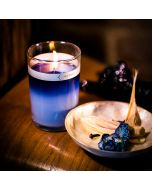 icelandic moonflower petal topped candle