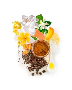 lemon coffee blossom olive stone scrub